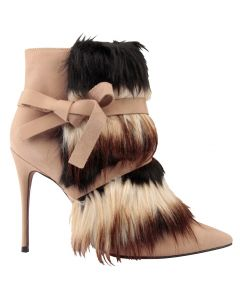 Carrano Farrah Leather Stiletto Boot w/Fur