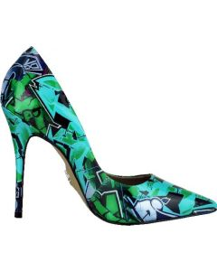 Carrano Loretta Pump - Graffiti Green